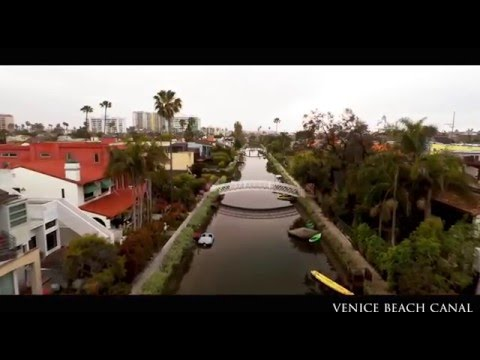 Venice Canal  aerial view
