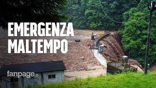 Maltempo in Lombardia, esondazioni e frane in Valsassina: paura per la diga di Premana
