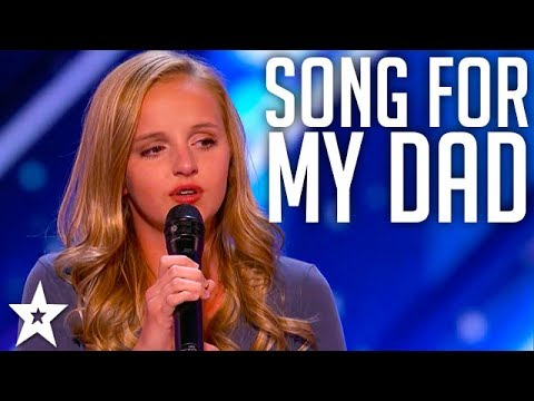 Evie Clair Sings A Song For Her Dad Battling Cancer   America's Got Talent 2017