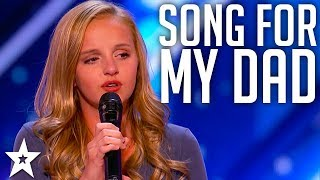 Download lagu Evie Clair Sings A Song For Her Dad Battling Cancer | America's Got Talent 2017