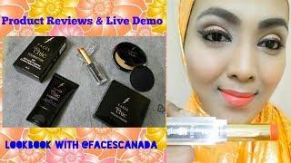 Faces Canada I Go Chic I Foundation + Compact I Glam On Lipstick I Review I just4funjannathff I jff