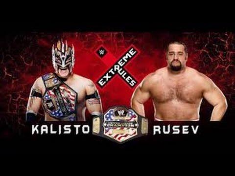 WWE 2k16 Rusev vs Kalisto ( Extreme Rules 2016 )