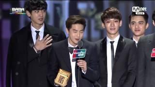 Video [ENG] 141203 MAMA Artist of the Year EXO Speech download MP3, 3GP, MP4, WEBM, AVI, FLV Juni 2018