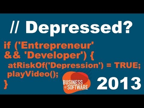 devs and depression greg baugues business of software 2013 boosted audio levels