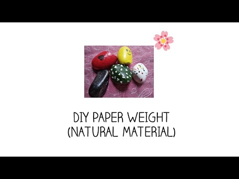 DIY Paper Weight—Using Natural Material | Adeel Sisters
