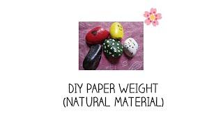DIY Paper Weight—Using Natural Material | Adeel Sisters