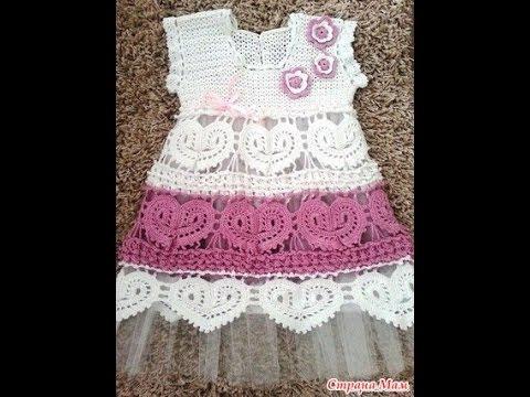 Crochet Patterns| for free |crochet baby dress| 1428 - YouTube