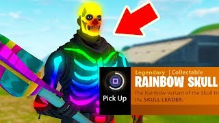 Did we just find the RAINBOW SKULL TROOPER in Fortnite??? (SECRET Easter Egg)