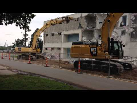 Demolition of the Old Cleveland County Jail