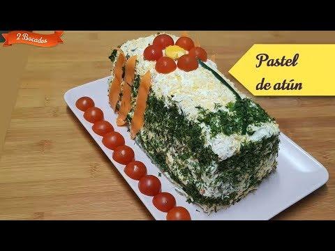 PASTEL DE ATÚN con Pan de Molde - Delicioso pastel frío