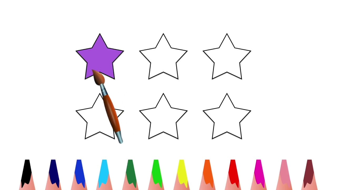 Counting coloring pages for toddlers - Learn Color Coloring Page For Kids Pre School Toddler Counting Stars T M U Cho Tr Em