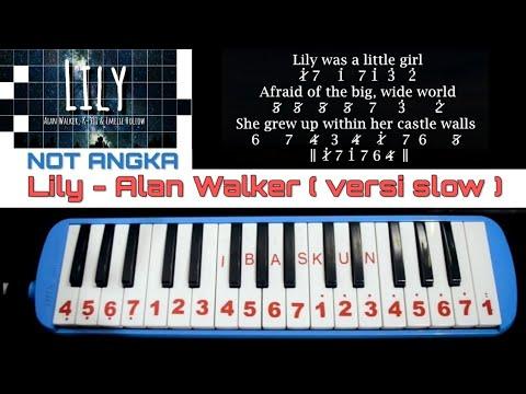 not-pianika-lily-alan-walker-lambat