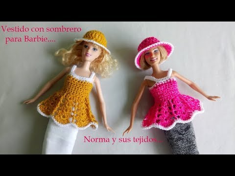 Vestido a crochet con sombrero para Barbie - Most Popular Videos
