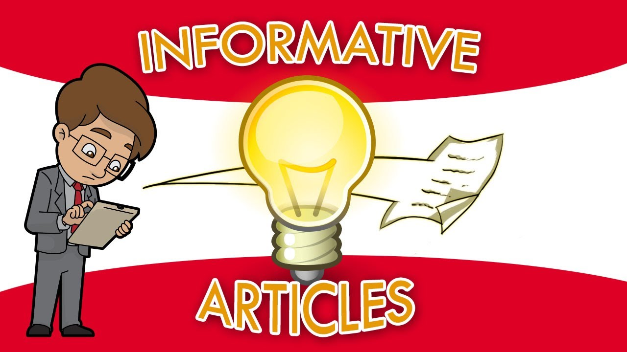 Article Writing - The Keys to Writing an Informative Article