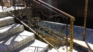 кованые перила , навес, ворота и калитка(, 2014-07-09T17:43:38.000Z)