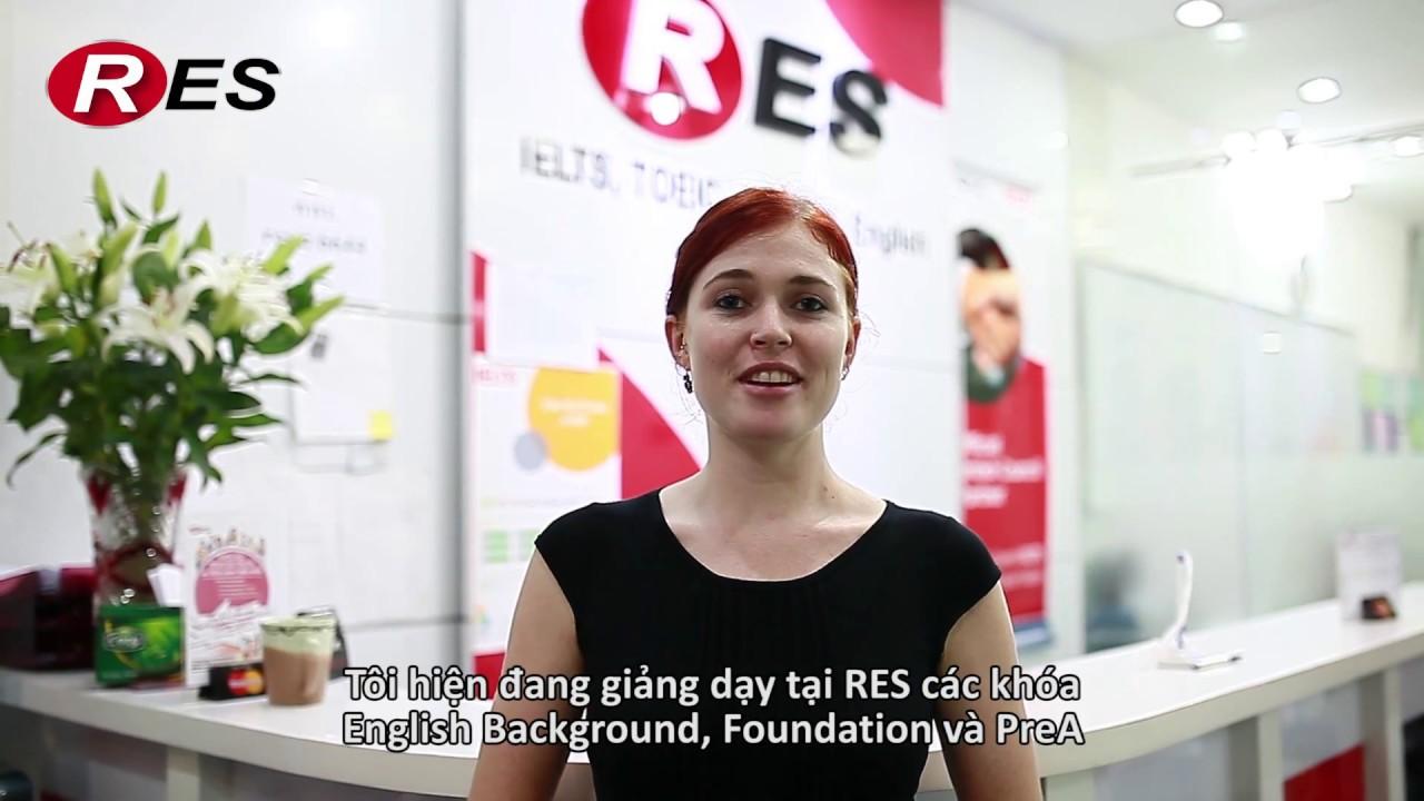 Cô Danielle- Giáo viên tại RES (Trung tâm luyện thi IELTS số 1 Việt Nam)