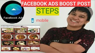 FACEBOOK BOOST POST TUTORIAL, HOW TO CREATE FACEBOOK ADS USING MOBILE PHONE AND BOOSTING A POST
