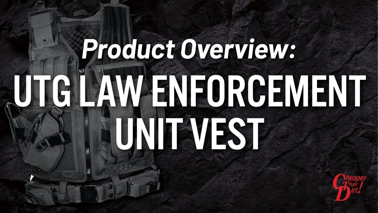 UTG 547 Law Enforcement Tactical Vest Just $31 95 FREE S&H