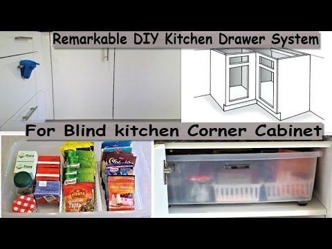 Remarkable Diy Kitchen Drawer System For Blind Kitchen
