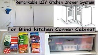 Kitchen Organizing- Remarkable DIY Kitchen Drawer System For Blind Kitchen Corner Cabinet.
