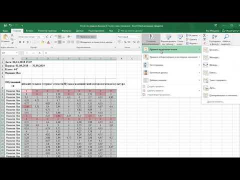 Подготовка к окончанию триместра - делаем таблицу со средними баллами более наглядной