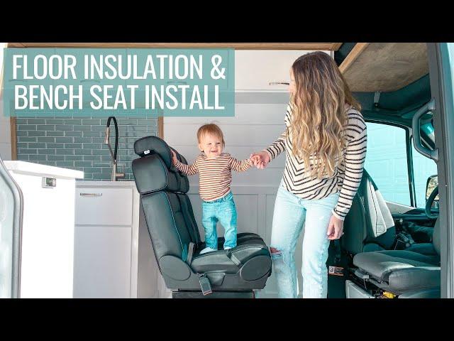 VAN BUILD BEGINS 🚐🔨 floor insulation & installing a bench seat | VAN BUILD SERIES (episode 1)