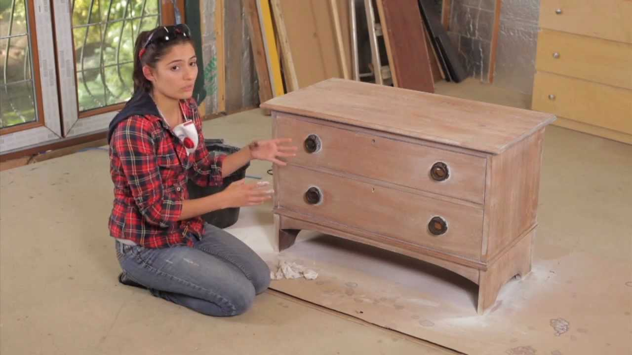 How to sanding painting furniture with layla youtube for Painting designs on wood furniture
