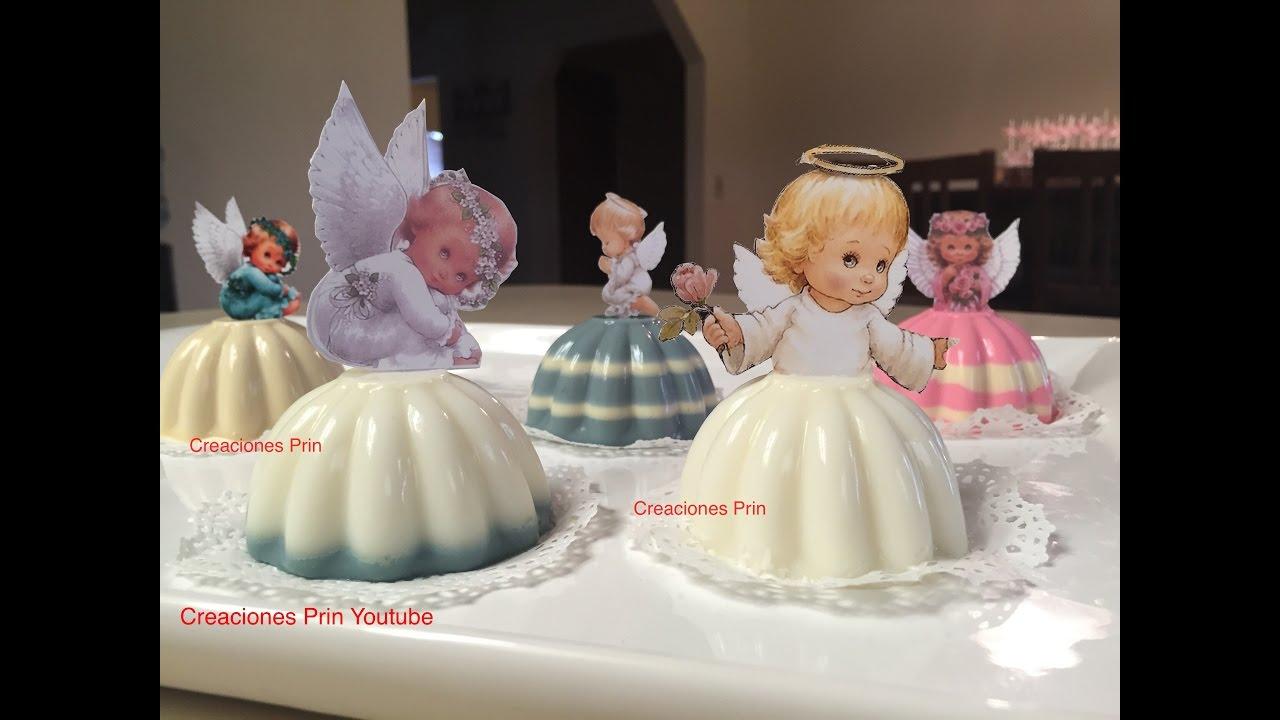 Gelatinas para bautizo de angelitos 3 leches youtube - Individuales para mesa ...