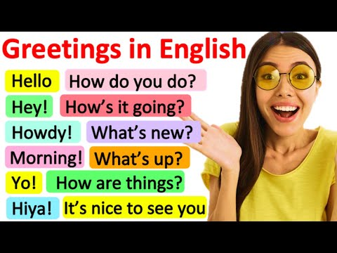 GREETINGS IN ENGLISH | Formal & informal | Learn with examples & quiz!