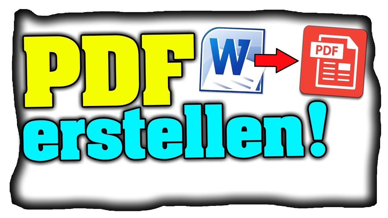 PDF-Datei erstellen! (Online-Bewerbung) - Tutorial (Deutsch) - YouTube