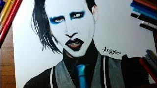Speed Drawing - Marilyn Manson