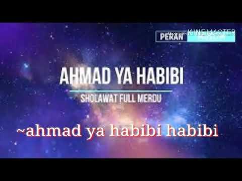 Lirik Sholawat Ahmad Ya Habibi Cover By Omar Borkan Al Gala