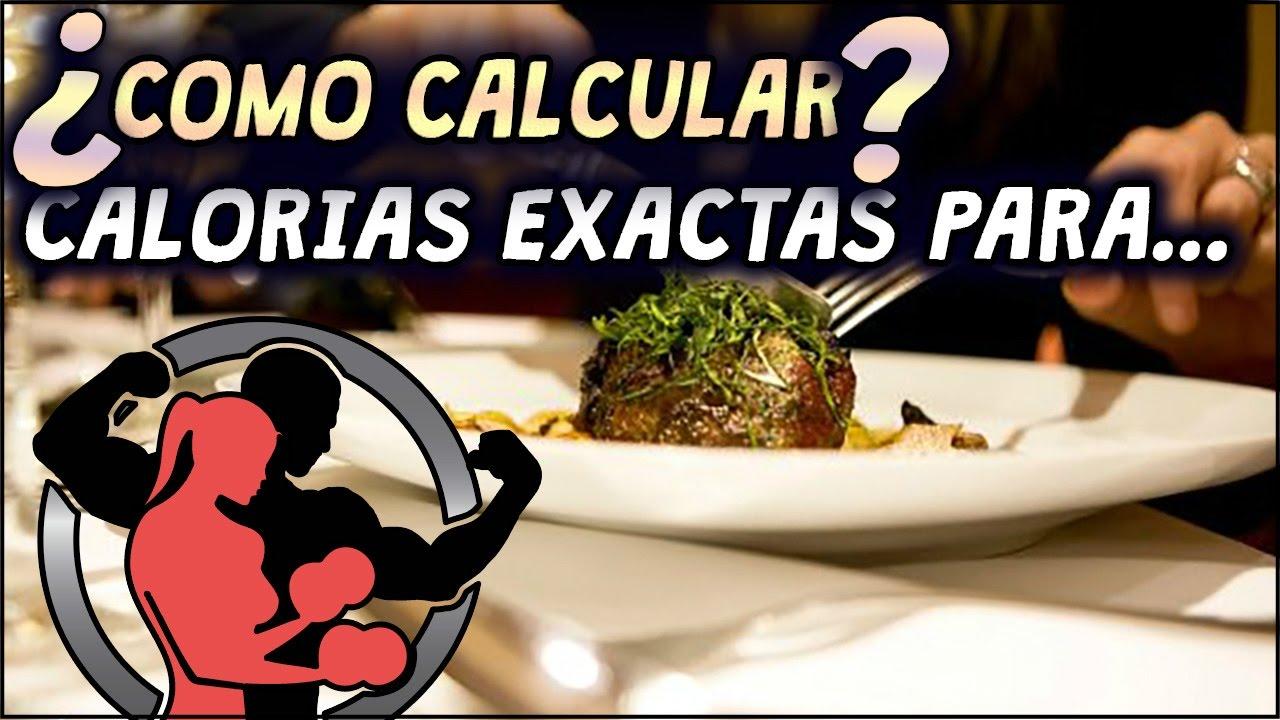 Calcular calorias dieta volumen