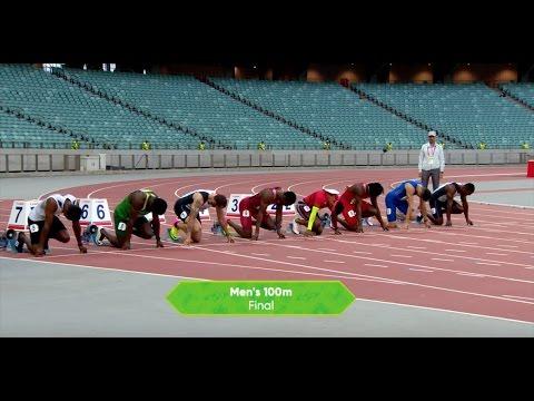 Ramil Guliyev 100м 10,06 Финал. Исламские Игры.