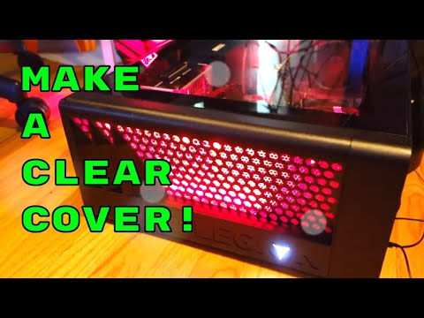 Make a CLEAR COVER for GAMING DESKTOP PC in 10 MINS! LENOVO LEGION T530 GTX1660 (RGB Lights)