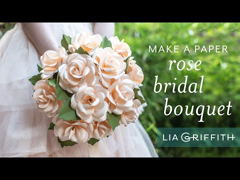 How to Make a Beautiful Bridal Rose Bouquet with Frosted Paper