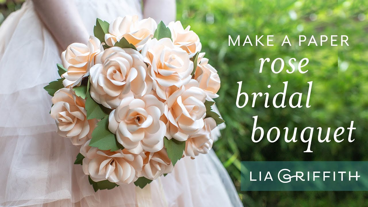 Bouquet Sposa Youtube.How To Make A Beautiful Bridal Rose Bouquet With Frosted Paper