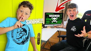 My Little Brother PRANKS My Room for 24 Hours…. CHALLENGE!!