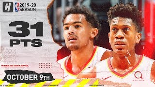 Trae Young & De'Andre Hunter Full Highlights vs Orlando Magic (2019.10.09) - 31 Pts Combined!