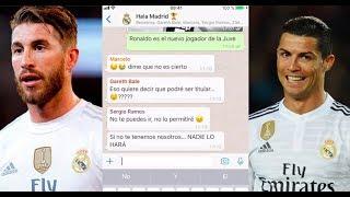 WhatsApp entre Cristiano Ronaldo y sus compañero al partir a Juventus