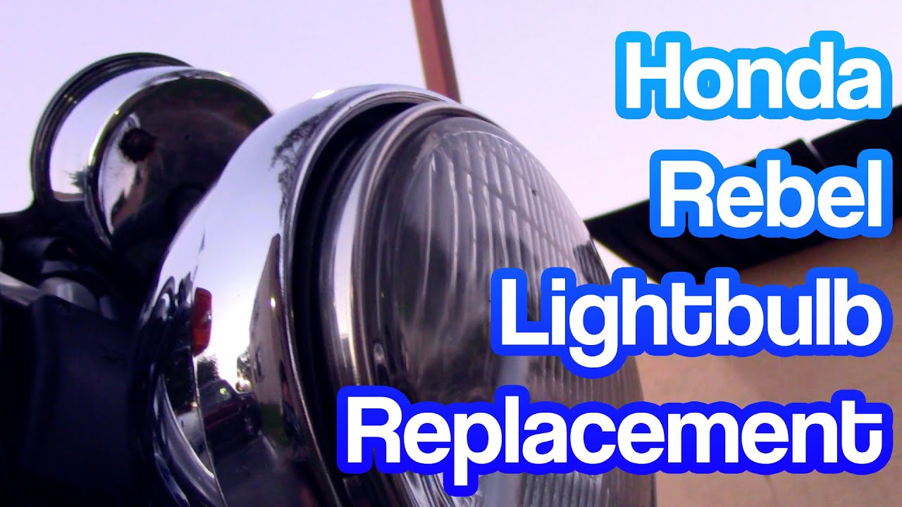 maxresdefault how to replace lightbulb headlight on a honda rebel revvinrav Honda Engine Wiring Diagram at alyssarenee.co