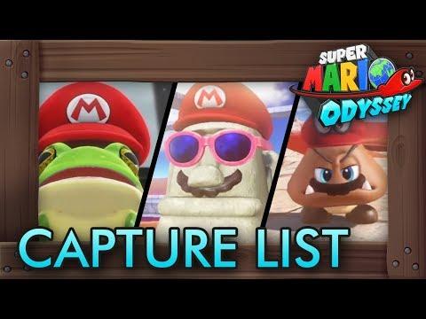 Super Mario Odyssey - Complete Capture List