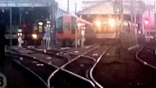 早朝、始発前。車庫のある駅2。フルバージョン。近鉄高安駅車庫 Railyard. Early morning 2.