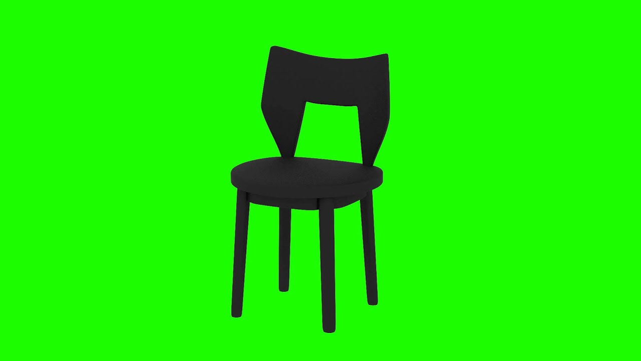 creative black chair in green screen free stock footage
