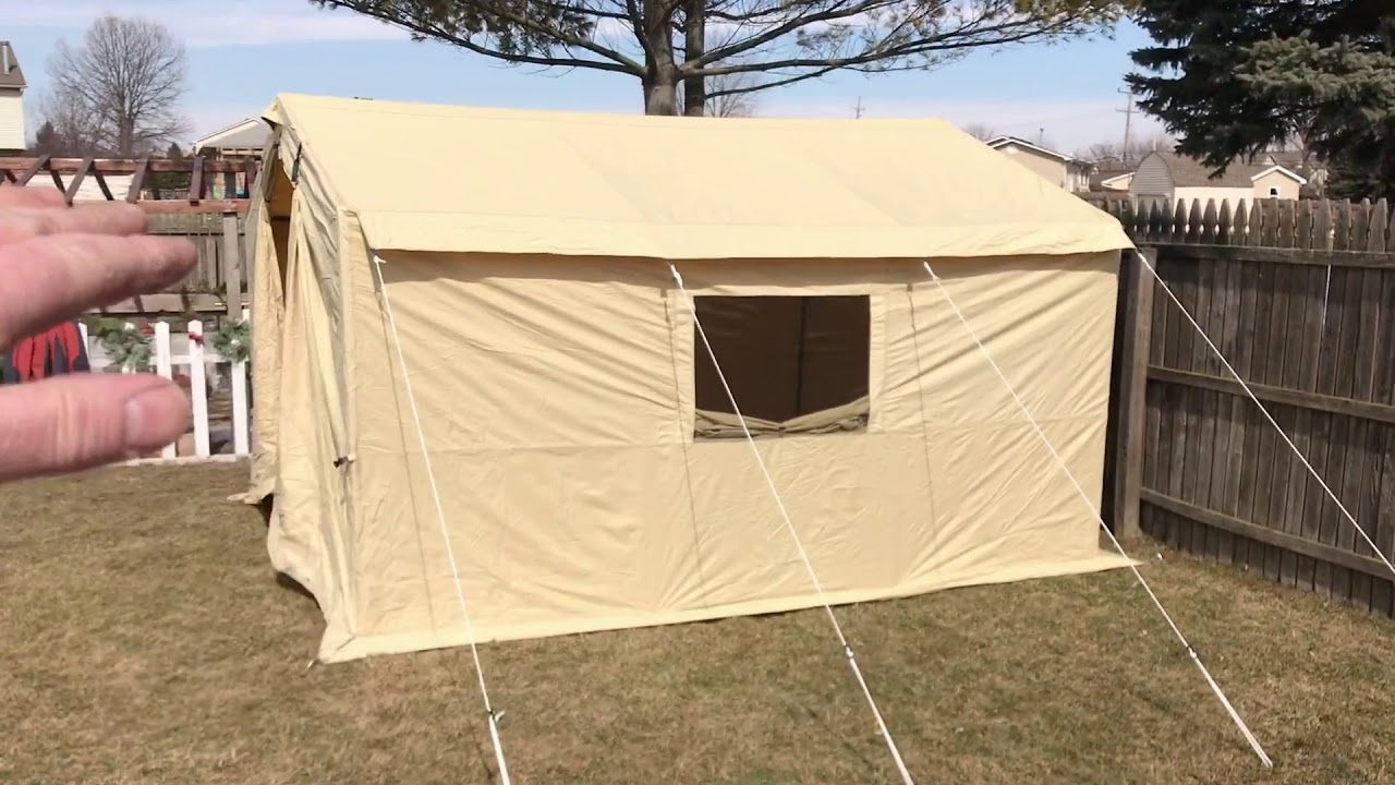 online store 9cdce f306e Ozark Trail 12 x 10 wall tent setup and review