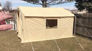 Inexpensive Wall Tent part 1