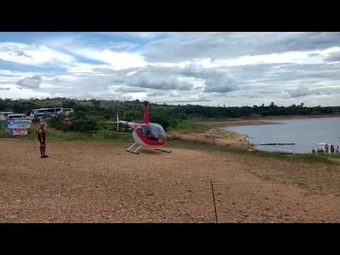 Queda do helicóptero em Capitólio MG - Rio Turvo. Vídeo completo