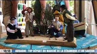 Le marché à la céramique et au santon d'Aubagne fête ses 51ans