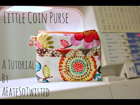 How To Make A Little Coin Purse (Sewing Project) - YouTube