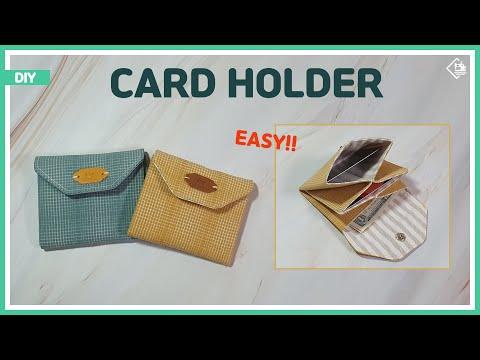 DIY/ CARD HOLDER/ CARD WALLET/ Simple & Easy/ 간단하게 카드지갑 만들기/ sewing tutorial [Tendersmile Handmade]